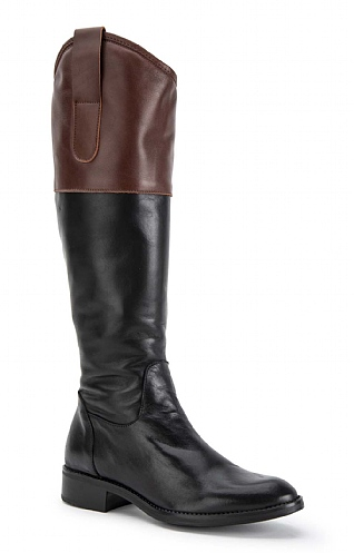 Contrast Top Long Boot