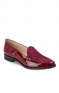 Patent/Suede Loafer