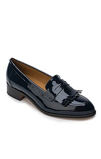 Patent Fringed Loafer