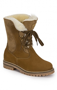 Sheepskin Lace Up Boot