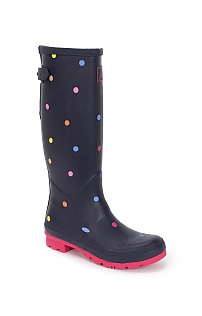 Joules Printed Welly with Gusset