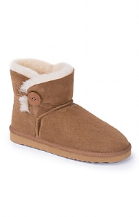 Sheepskin Button Boot