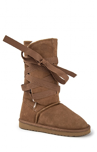 Sheepskin Wrap Around Boot