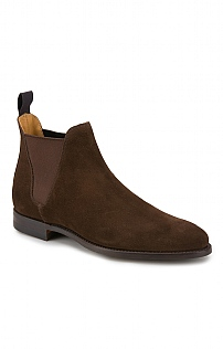 Mens Crockett And Jones Suede Chelsea Boot