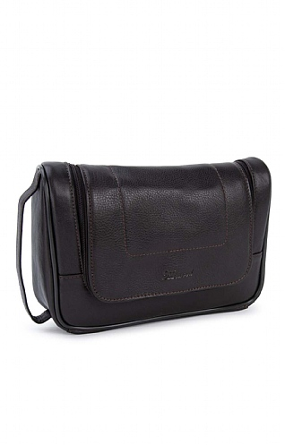 Mens Leather Hanging Washbag