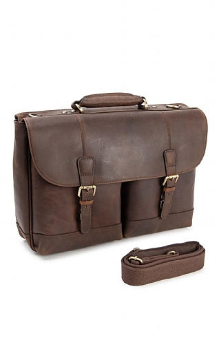 Mens Ashwood Henry Heavy-Duty Briefcase/Laptop Bag