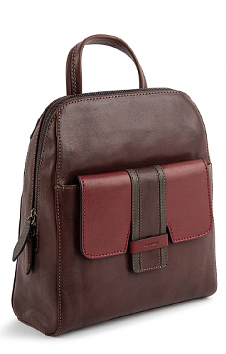 Gianni Conti Block Stripe Backpack