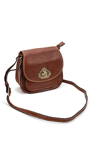 Gianni Conti Twist Lock Cross Body Bag