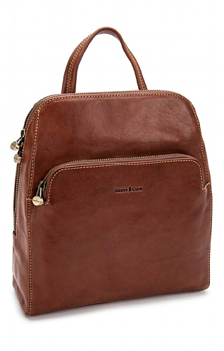 Gianni Conti Two Compartment Backpack