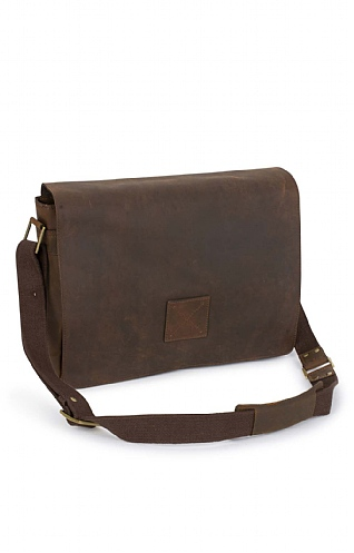 Mens Ashwood Pedro Leather Messenger Bag