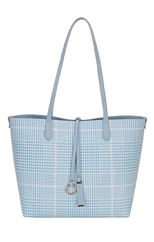 Houndstooth Bag with Purse