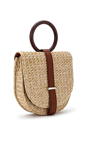 Fold Over Straw Bag