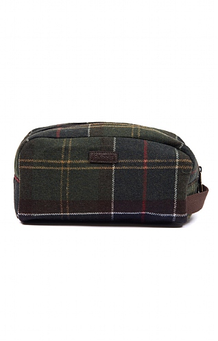 Barbour Tartan Wool Wash Bag