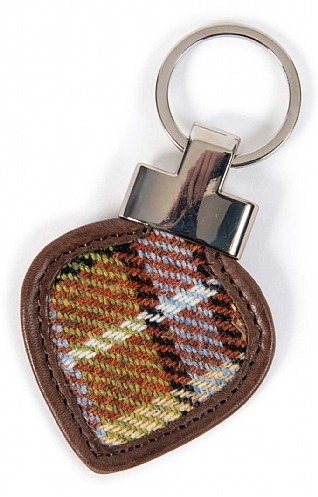 Islay Tweed Heart Key Ring