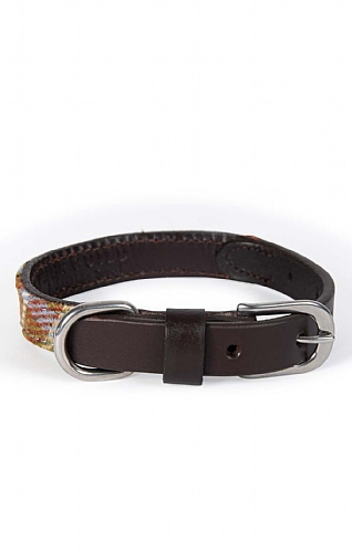 Tweed and Leather Dog Collar