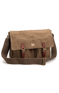 Troop London Double Buckle Flap Over Bag