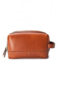 Mens Leather Rudy Washbag
