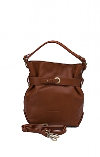 Zip Top Belted Bag