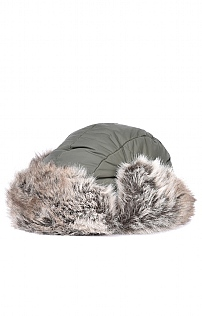 Ladies Barbour Fur Trimmed Trapper Hat