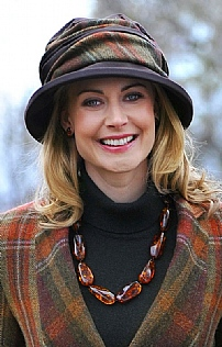 Ladies Tweed & Wax Rouched Hat