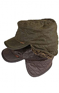 Mens Barbour Stanhope Trapper Waxed Hat