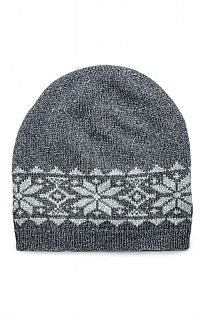 Lambswool and Silk Star Beanie