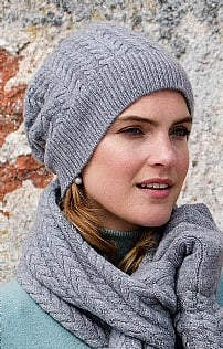Cashmere Cable Hat