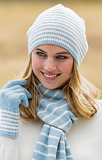 81e75b68525 Striped Cashmere Hat