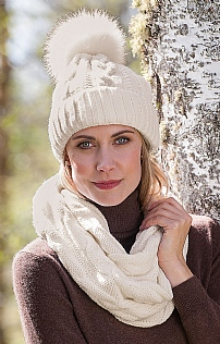 Aran Cable Scarf