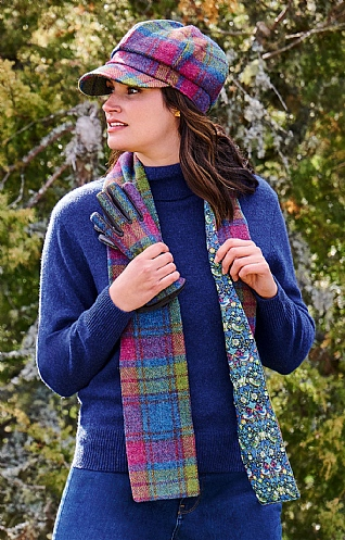 Harris Tweed and Liberty Print Scarf