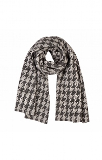 Johnstons Of Elgin Cashmere Houndstooth Scarf
