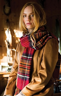 Johnstons Of Elgin Cashmere Check Scarf