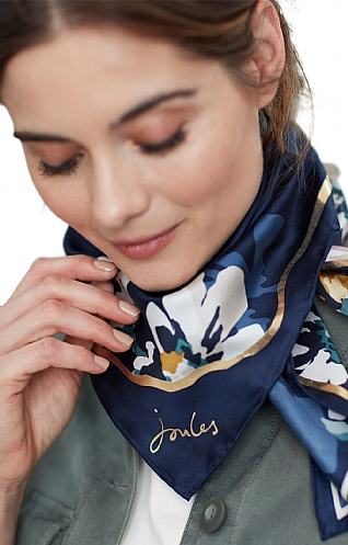 Joules Bloomfield Silk Scarf