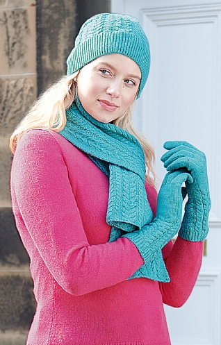 Cashmere Cable Scarf