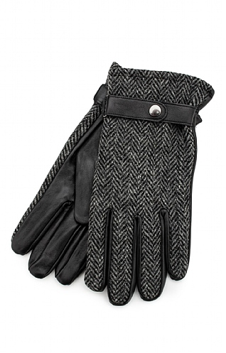 Failsworth Harris Tweed Leather Gloves