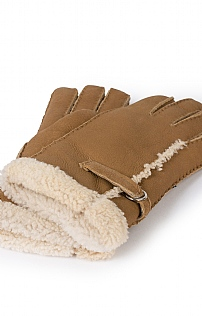 Ladies Sheepskin Buckle Trim Glove