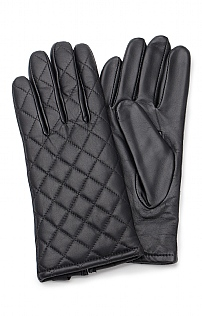 Ladies Quilted Leather Gloves