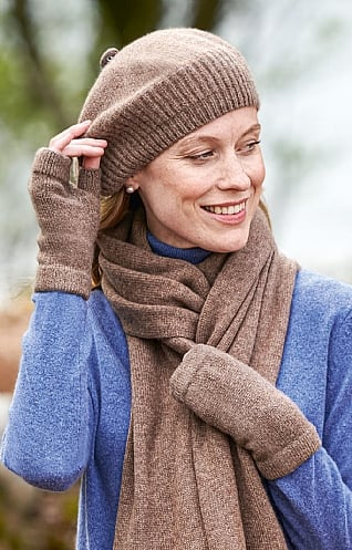 Gauzy Cashmere Fingerless Mitts