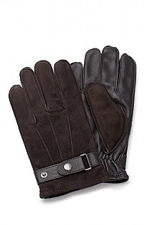 Mens Leather Strap Gloves