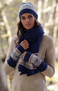 Lambswool and Angora Wristwarmer