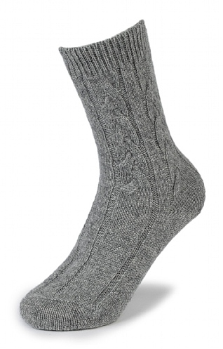 Cashmere Cable Sock