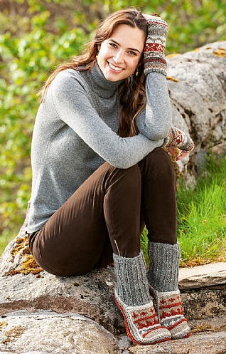 Ladies Finisterre Slipper Socks