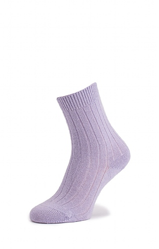 Ladies Ribbed Cashmere Socks
