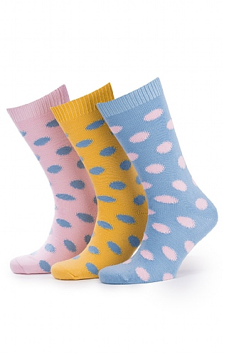 Men's Cotton Spot Socks 3 Pair Pack