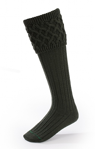 Mens Merino Plain Shooting Socks