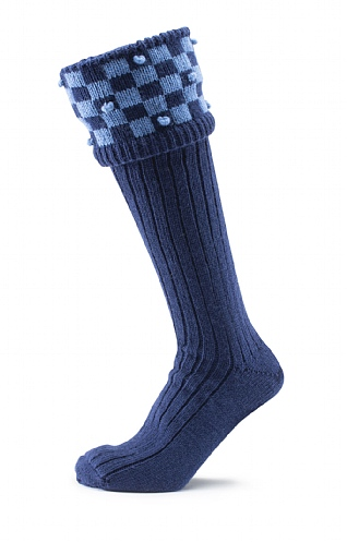 Handknitted Bobble Shooting Socks