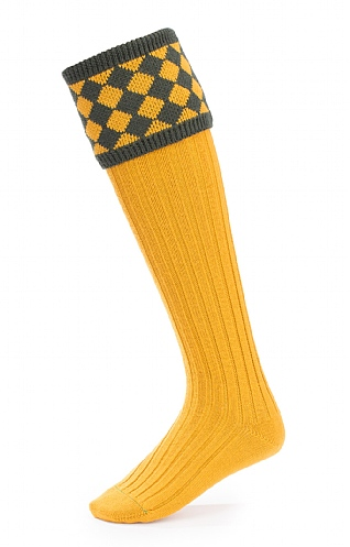 Merino Diamond Top Shooting Socks
