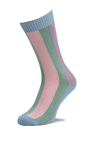 Men's Cotton Vertical Stripe Socks