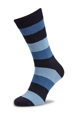 Mens Cotton Wide Stripe Socks