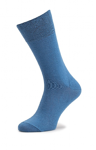 Mens Fine Cotton Plain Socks